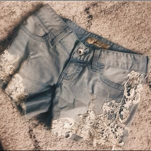 Guess Jean Shorts Embroidered
